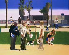 Peter Blake - 'The meeting' or 'Have a Nice Day, Mr Hockney'