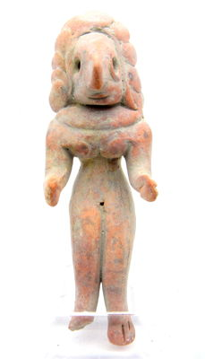 Indus Valley Terracotta Seated Female Fertility Idol  / Figurine  - 61 mm