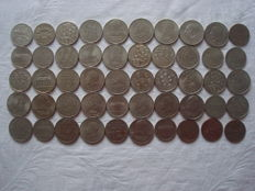 GDR of East Germany - 50 x 5, 10, 20 Mark 1969 -1990 commemorative coins