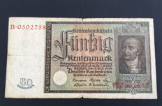 Germany - 50 Rentenmark 1934 - Pick 172 - Rosenberg 165