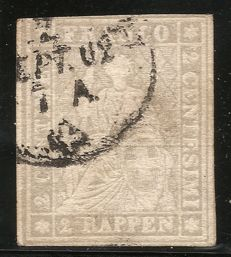 Switzerland 1854-1862 - sitting Helvetia imperforate - Michel no. 19, Zumstein no. 21G