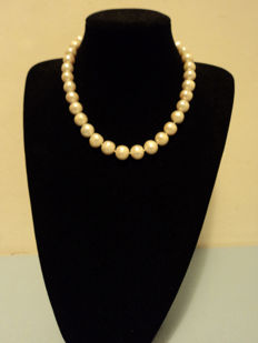Necklace (47 cm) - Choker with Baroque pearls