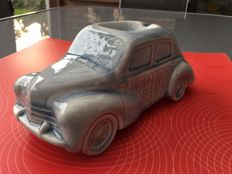Renault 4cv,  ashtray, Faience craquelee, 1950s (classic car)