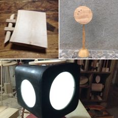 Luciano Biscarini - Table lamp, adjustable lectern and chopping board