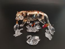 Swarovski - annual edition tiger - puffins - toucan - cockatoo - swan