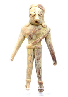 Indus Valley Terracotta Fertility Standing Male Idol  / Figurine  - 121 mm