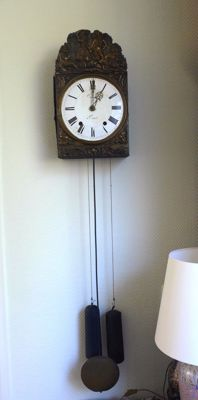 French Comtoise clock with folding crank - 1850s