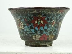 Cloisonné lotus cup - China - Ming dynasty