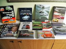 Lot of automobile books from the past and of the present
