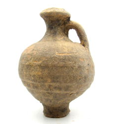 Roman Terracotta Legionary Jug with Handle - 85x122mm
