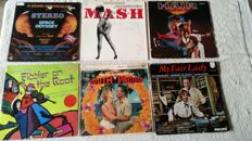 A great lot of movie and musical soundtracks. 12 albums and 3 doublealbums.