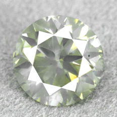 Diamond – 1.03 ct, Natural Fancy Greyish Yellow I1