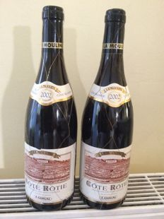 "2002 Cote-Rotie ""La Mouline"" E.Guigal - 2 bottles 75cl."