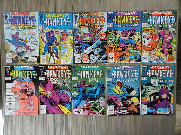 Solo Avengers / Avengers Spotlight # 1 -40 & Hawkeye Vol.2 complete Series plus Hawkeye One-Shot - 45x sc (1989-1998)