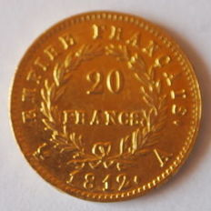 France - 20 francs 1812 A (Paris) - Napoleon I - Gold