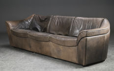 Berg Furniture - Three-seater vintage sofa with buffalo leather