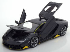 Maisto - Scale 1/18 - Lamborghini Centenario 2017 - Colour Grey with yellow