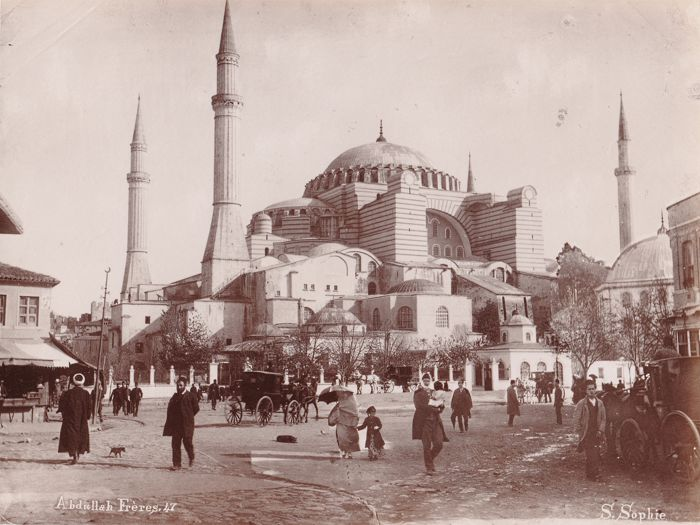Abdullah brothers (act. 1858-1899) - Esplanade of the St Sophie Mosque, Constantinople, Turkey