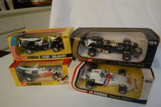 Dinky Toys - Scale 1/36-1/43 - Lot of 4 F1 racing cars