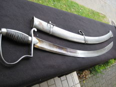 Cavalry Sabre with a blued/gold-plated blade