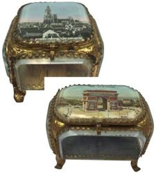 French jewellery boxes - Arc de Triomphe & Strasbourg -France - c. 1900