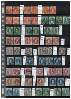 Swiss 1882/1907 - Standing Helvetia, types on colour, paper, perforation and watermark