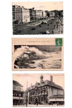 France - lot with 196 old postcards, some semi-modern postcards of cities, villages and others