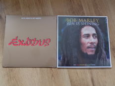 "Bob Marley "" Exodus 40 "" Gold vinyl LP & "" Sun Is Shining "" 3 LP set in coloured vinyl."
