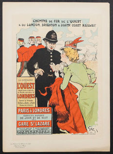 Jules-Alexandre Grün (1868-1934) - 'Chemins De Fer De L'ouest et du London Brighton & South Coast Railways' from the 'Les Maîtres de l'Affiche' series
