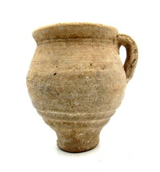 Roman Terracotta Legionary Jug with Handle - 82x85mm