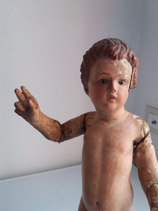 Blessing Child in polychrome wood - Naples - late 18th century