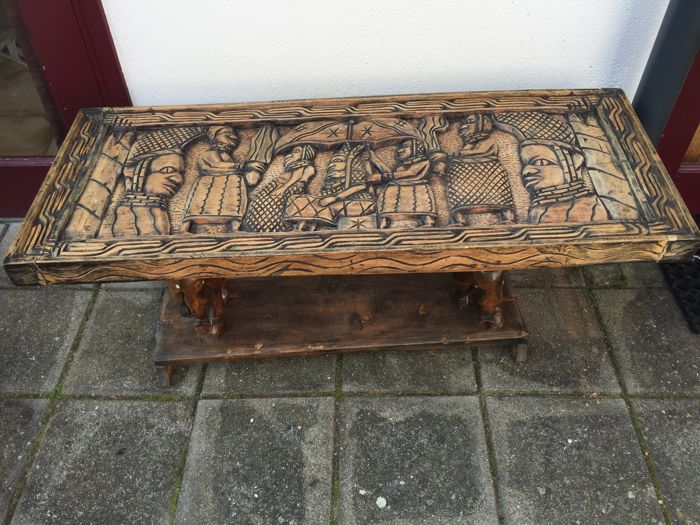 Handcarved Salon Table - BENIN - Nigeria