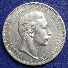 Prussian empire - 5 mark 1907 A - silver