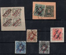 Morocco 1908 - Tétouan authorised stamps from Morocco - Edifil 23/28.