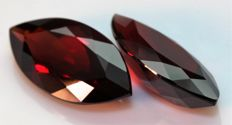 Pair of Rhodolite Garnets – 9.03 ct Total