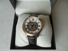 Rotary Men's Automatic Watch Genuine Brown Leather Stainless Steel