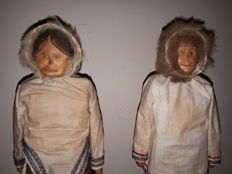 Couple of figurines - INUIT - Alaska