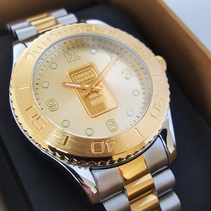 Credit Suisse - Swiss Made Ingot Watch 24k Gold 999.9 - Uomo - 2018