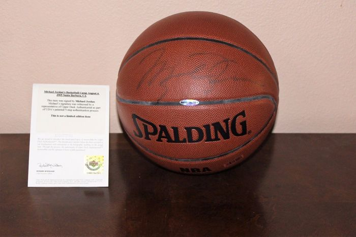 a2a3b7b808f Michael Jordan - original hand signed authentic Basketball in new showcase  display + Full Upper Deck