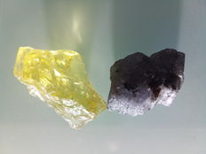 Lot of Blue Violet Natural Tanzanite & Brazilian Lemon Citrine -  Rough - 180.45 (2)