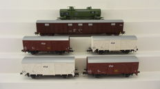 Roco H0 - 45967/66806/66814 - Set of six goods wagons of the NS