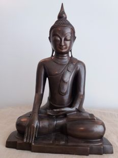 Large Buddha satue bronze (46.5 cm) - Thailand - late 20th century