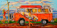 Mathias - Dutch holiday, orange VW bus and girs