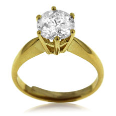 Classic 2.20ct Diamond Solitair with IGI-Certificate, as new.