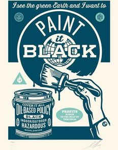 Shepard Fairey (OBEY) - Paint it black (blue edition)