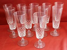 11 crystal glasses