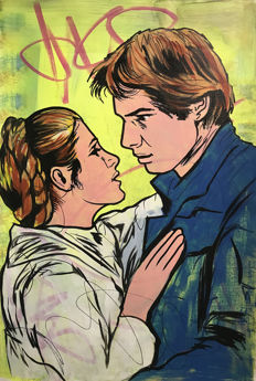 Dillon Boy - Star Wars Han Solo & Princess Leia  - Graffiti Girl Pop Art