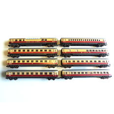 Minitrix N - 13015, 13016, 13017, 13018, 13019 - Set of 8 TEE carriages