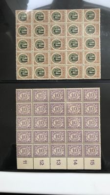 Dutch East Indies 1900/1940 – Batch of mainly sheet parts incl. official and postage due stamps