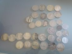 Italy and World – Lot of 34 coins (including 14 x 500 Lire) – (including silver).